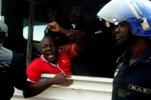 Samba David, coordonnateur de la Coalition des Indignés de Côte d'Ivoire (Ph:Dr)