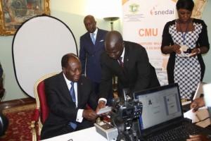 Le Président de la République Alassane Ouattara s'est fait enrôlé.