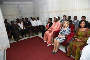 Dominique Ouattara était accompagnée d'une forte délégation