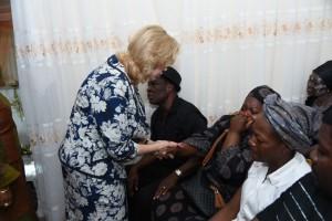 Dominique Ouattara a partagé la douleur de la famille éplorée