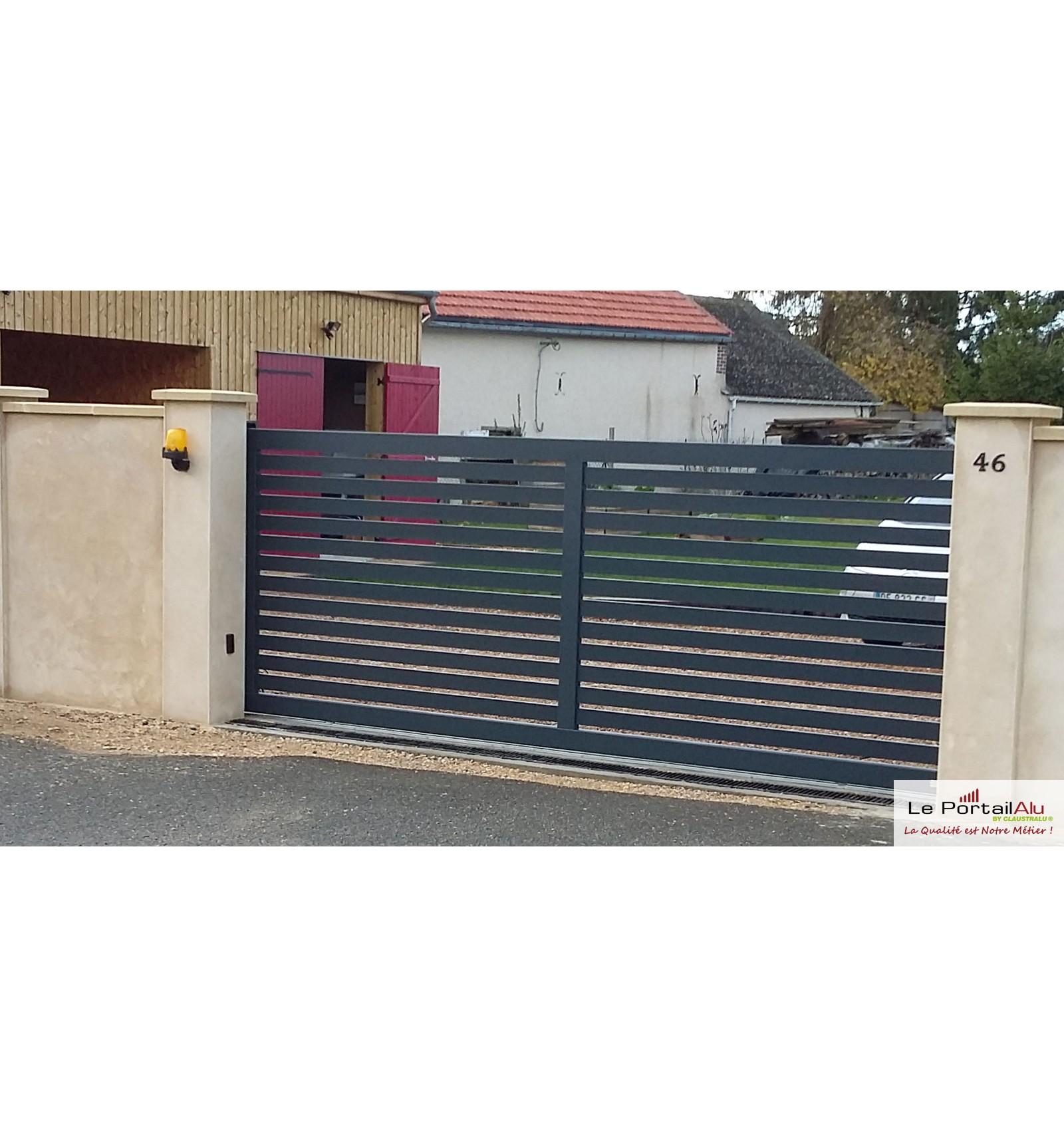 Portail Coulissant Pas Cher Ajoure En Aluminium Leportailalu