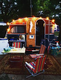 Camping au bord de la rivière dordogne