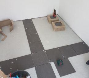 Tuinhuis - vloer leggen