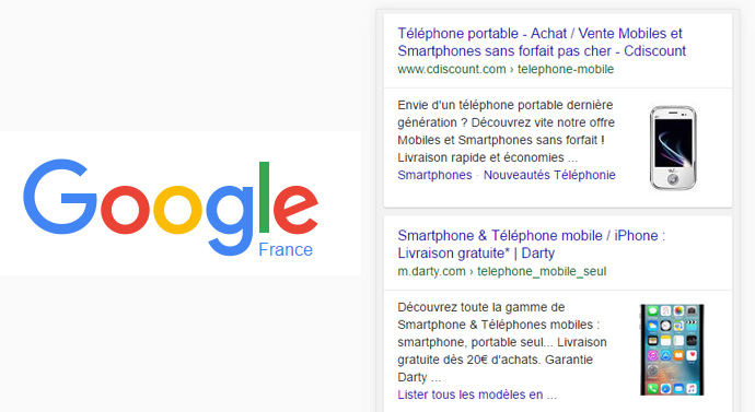 google mobile image une résultat