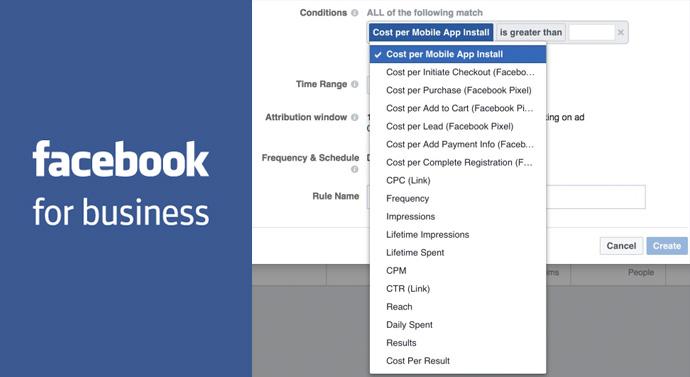 règles conditionnelles publicités facebook