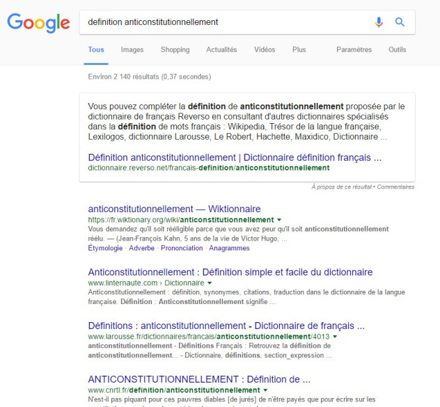featured snippet google france