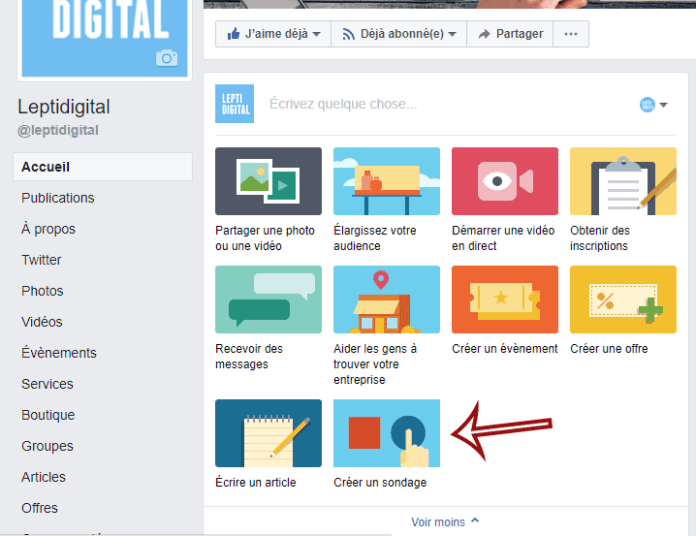 create poll Facebook page