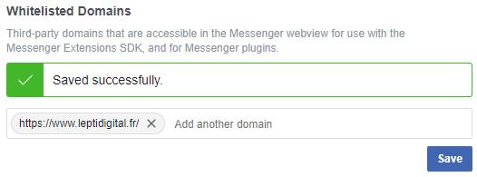 whitelist domain customer chat messenger