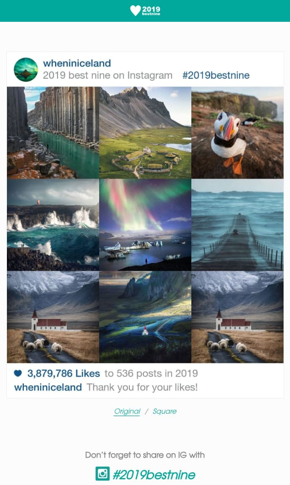 instagram best nine example 2019