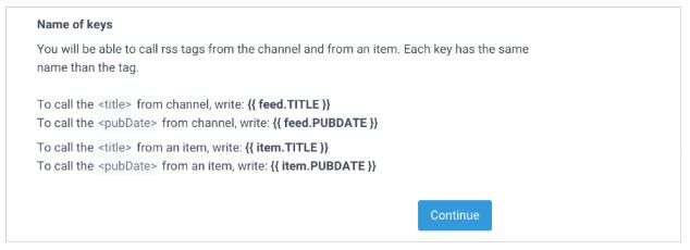crear feed sendinblue rss