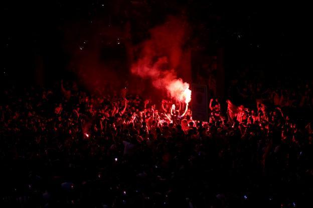 Un jeune supporter de 14 ans est mort en fêtant le titre de l'Atlético. (Reuters)