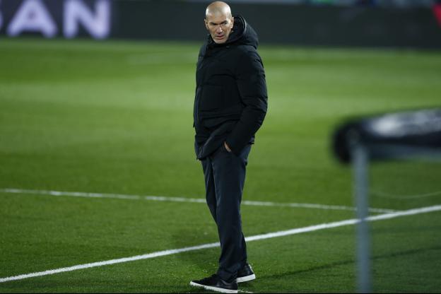 Zinédine Zidane, en décembre2020, au stade Santiago-Bernabeu, à Madrid. (B.Cremel/L'Équipe)