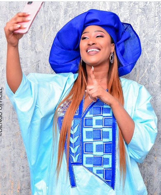 """Tabaski: Racky de la série """"Maîtresse d'un homme marié"""" dans une tenue magnifique(Photo)!"""