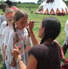 Maquillage enfant - Tipis d'hôtes Languidic Morbihan