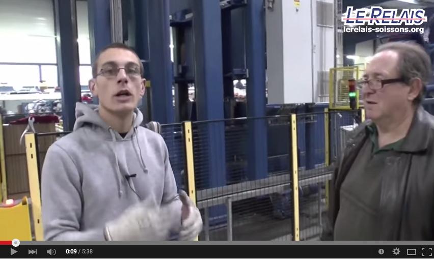 Le Relais Soissons : Yannick à la presse mécanique