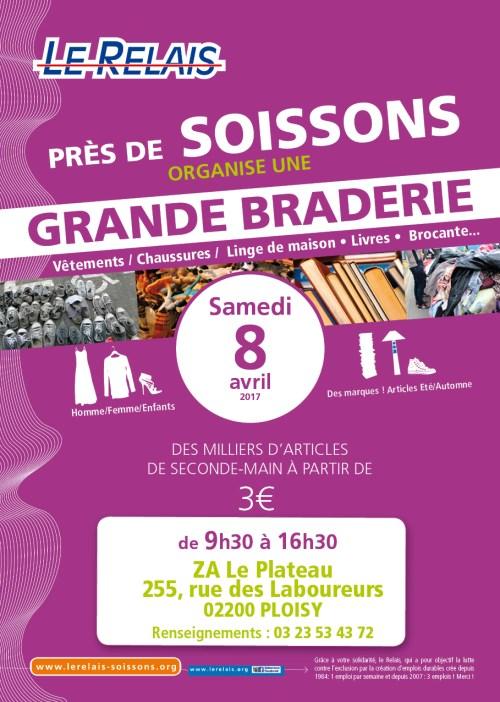 Le Relais Soissons : Braderie avril 2017