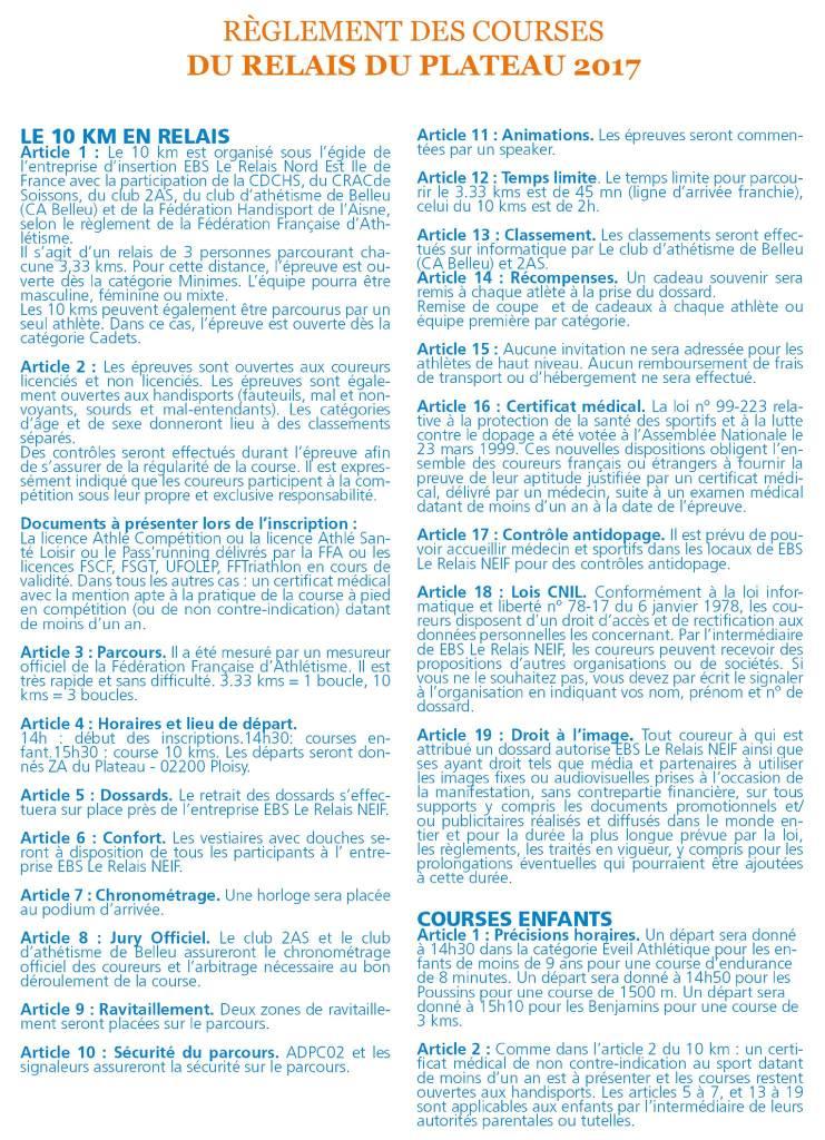 Le Relais du Plateau : Règlement intérieur 2017
