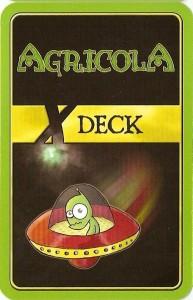 Verso d'une carte du X-deck !