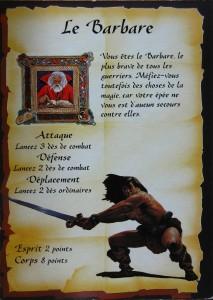 Le barbare de Heroquest.