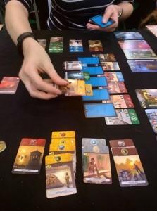 Une partie de 7 Wonders duel.