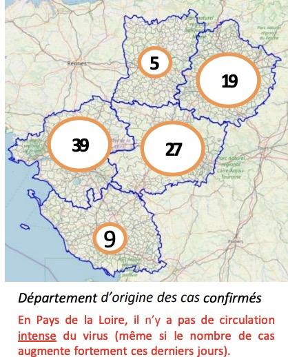 Coronavirus Maine-et-Loire Pays de la Loire - ARS: situation en ...