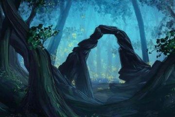 Porte vers le monde des élémentaux ou esprits de la nature