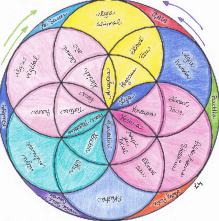 fleur de vie YIN géométrie intérieure de vibration et de sensibilité féminine