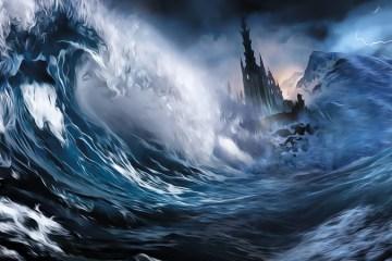 Transmigration des âmes atlantes et lémuriennes lors de la chute de l'Atlantide