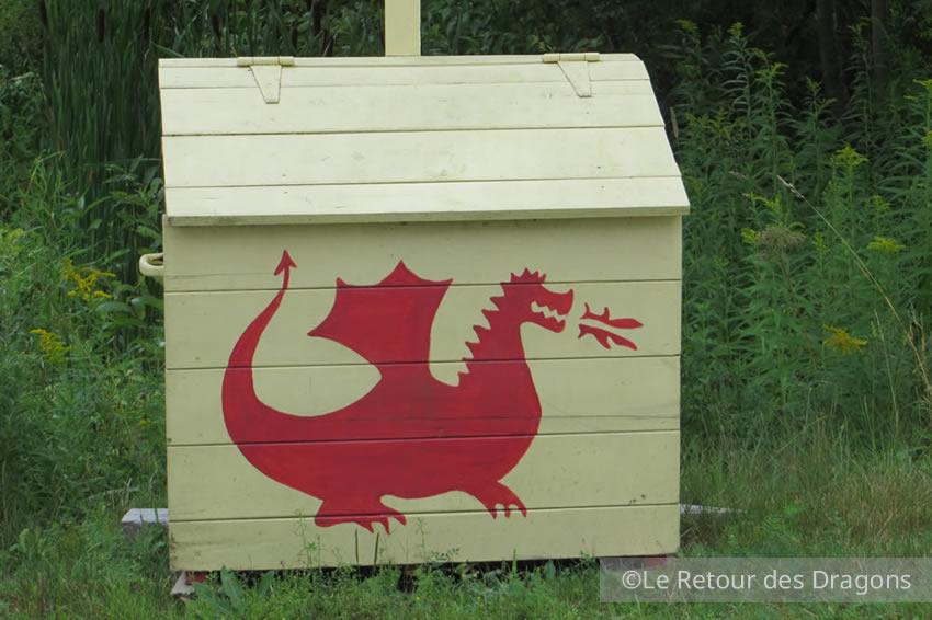 Le dragon rouge du lac Memphrémagog