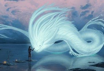 Adombrement par une vouivre un esprit de l'eau
