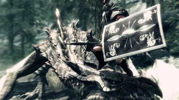 Dragon gardien de vortex contre un saint saurochtone