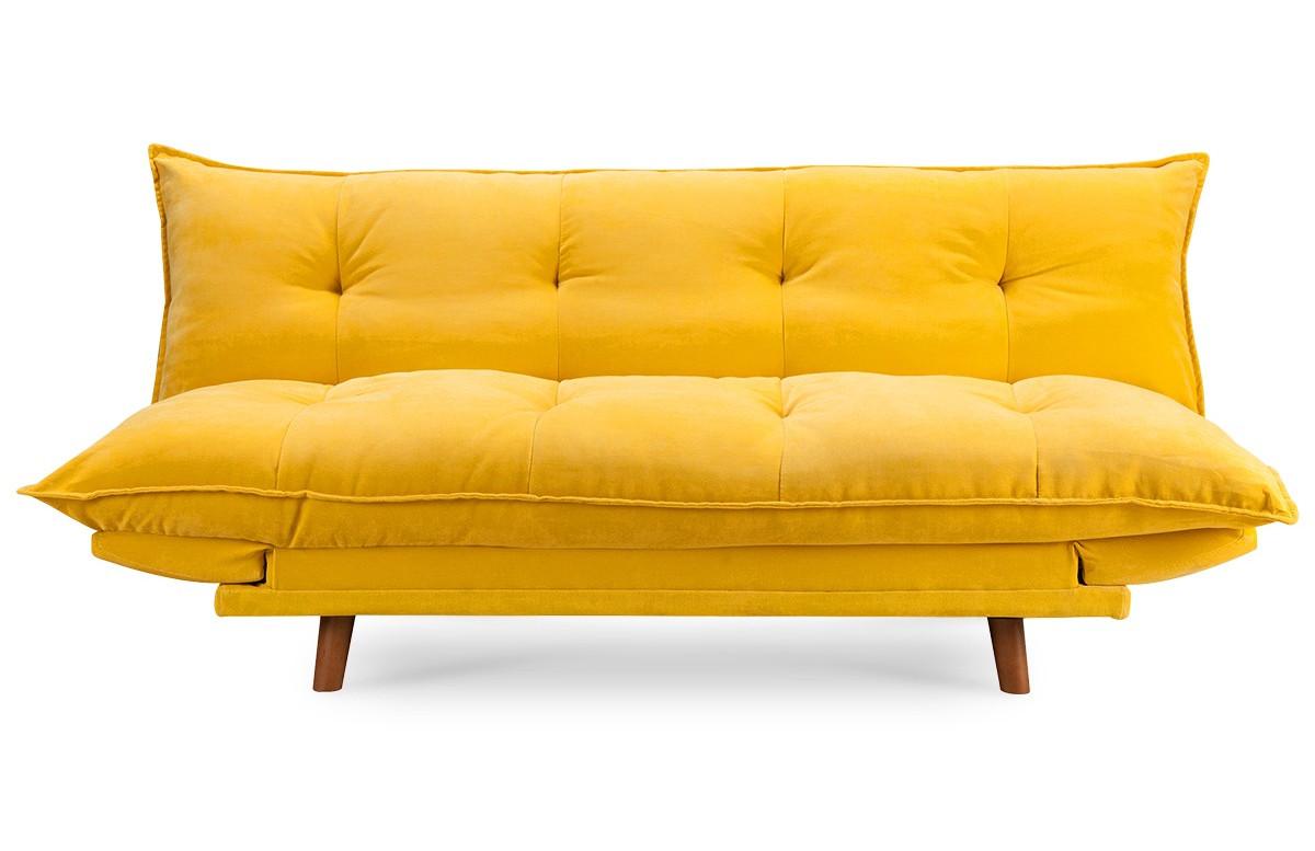 canape convertible jaune pillow
