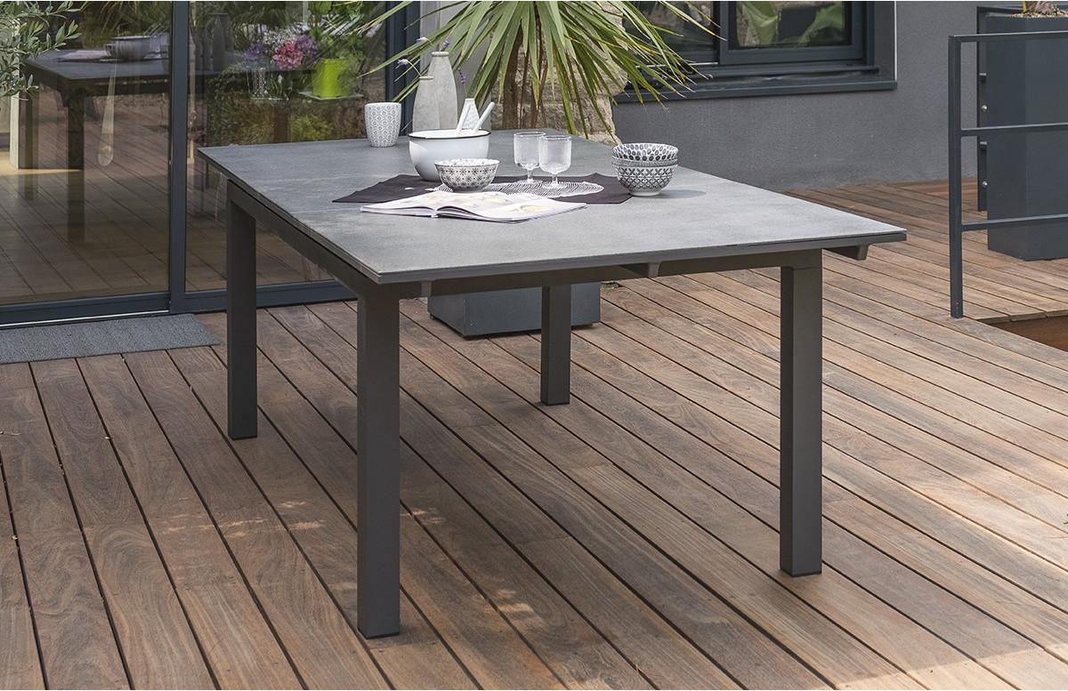table de jardin extensible en aluminium et verre pour 12 personnes dcb garden miami