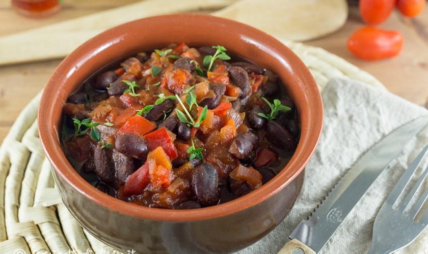 Chili vegetariano di fagioli neri