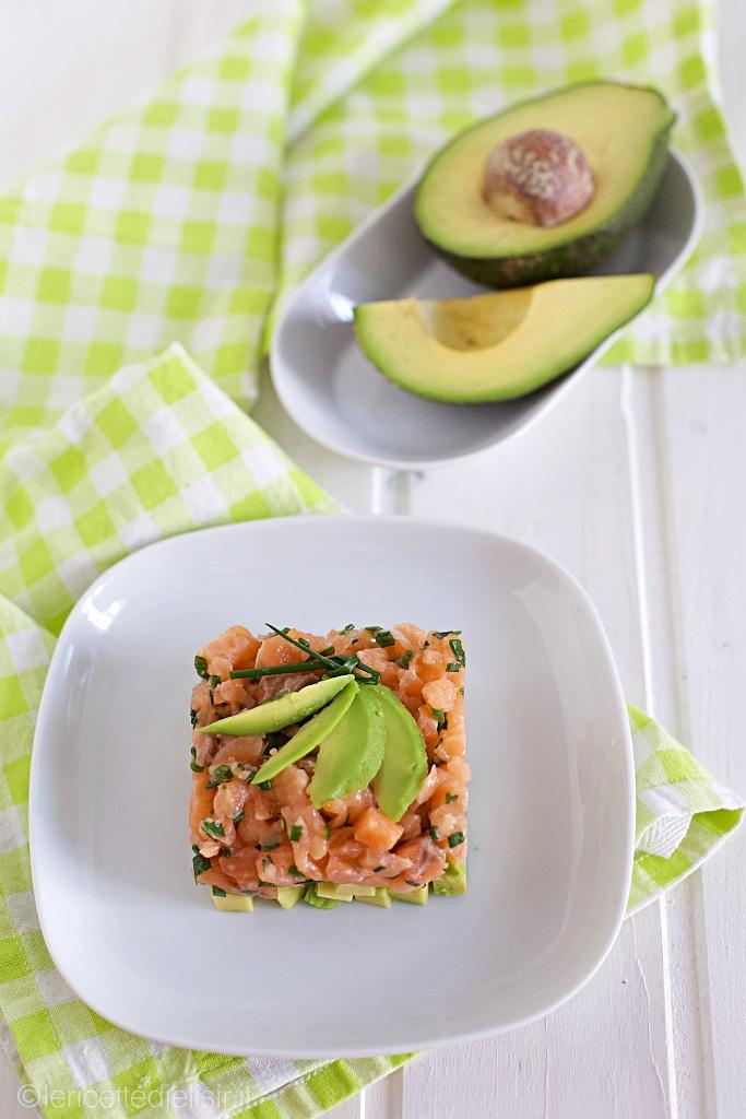tartare di salmone e avocado 2 - Tartare di salmone e avocado