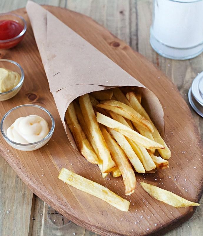 Patate stick fritte fatte in casa perfette