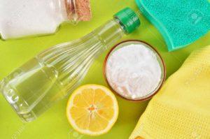 bicarbonato, aceto e limone