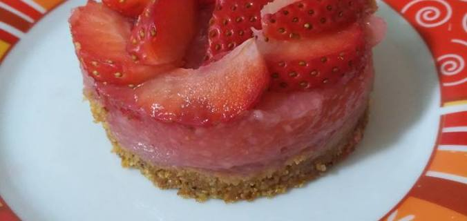 cheesecake alle fragole vegan