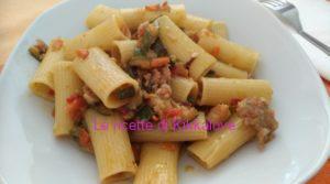 Rigatoni salsiccia zucchina e carota