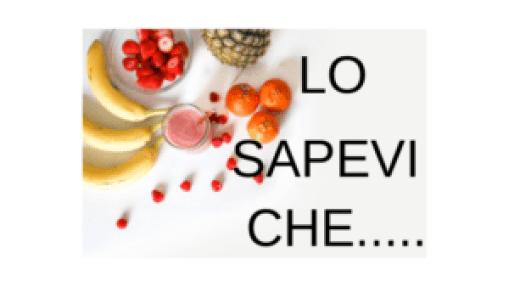 LO SAPEVI CHE....