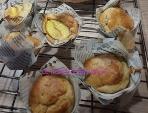 Muffin vegan banana e pesca
