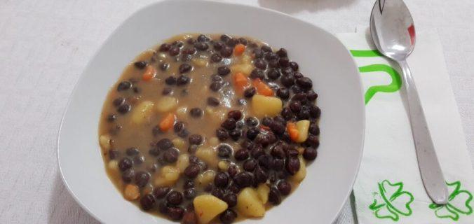 zuppa di ceci rossi e patate