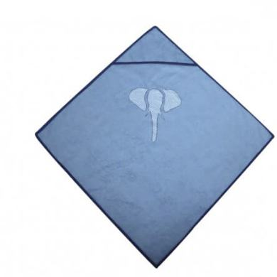 Cape de bain bleue elephant