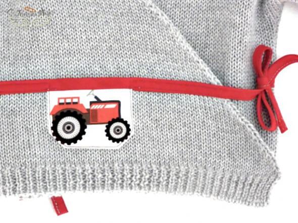 Brassiere bebe Tracteur Rouge