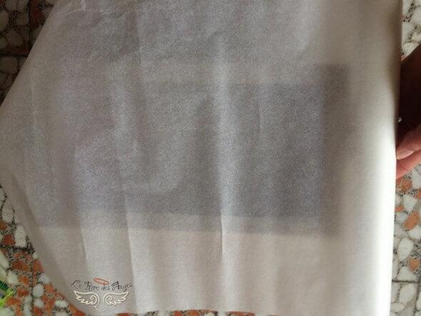 papier sulfurisé ou papier calque pour boite à ombres