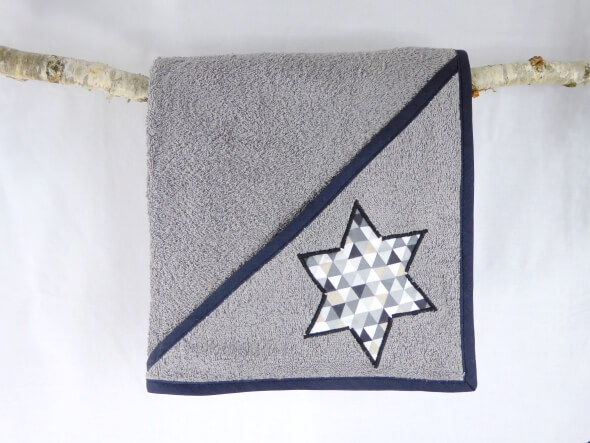 Cape de bain Triangle en etoile