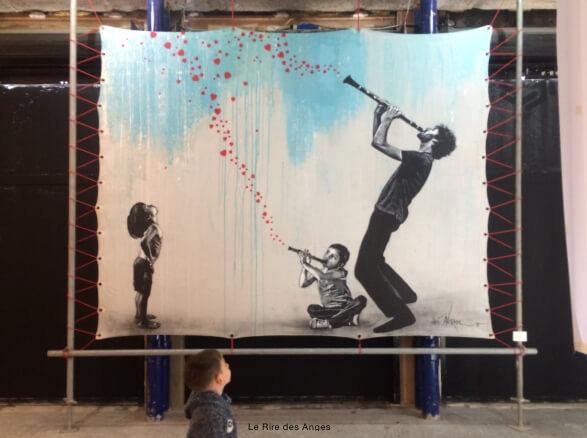 one two street art
