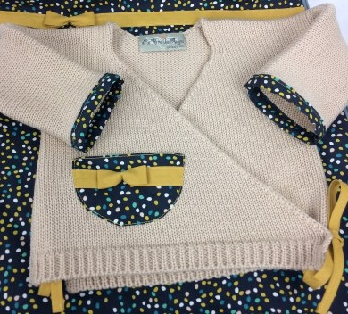 brassiere en laine dots