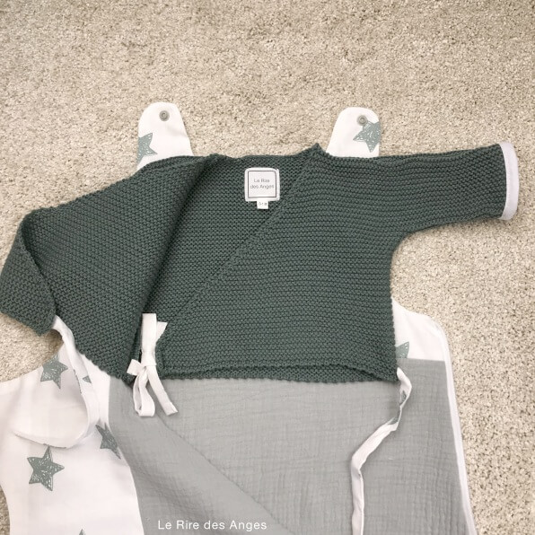 brassiere coton vert