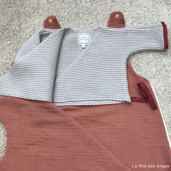 brassiere bebe coton gris